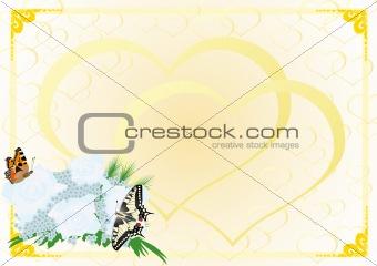 Bridal bouquet and butterflies