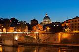 Rome at dusk