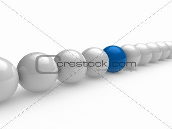 3d ball blue white line