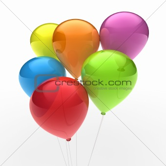 3d ballon colorful