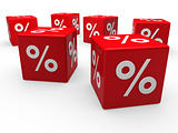 3d red sale cube percentage