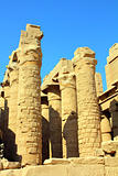 columns in egypt karnak temple