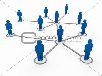 3d blue network team