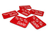 3d sale card red