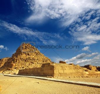small egypt pyramid in Giza