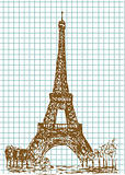 hand drawn eifel tower
