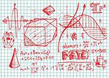 hand drawn math symbols