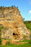 Kalimoskan rock with cave in southern Ural