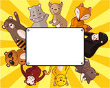 cartoon wildlife animal card