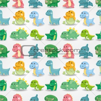 seamless dinosaur pattern