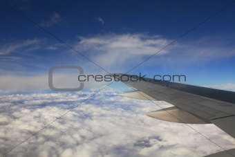 Aerial view on clouds.