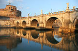 Saint Angel Castle and Bridge in Rome.