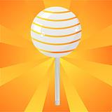 orange lollipop background