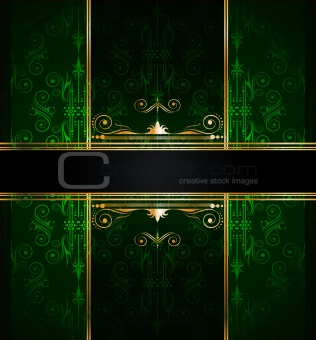Elegant seamless wallpaper with golden fine decoration