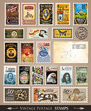 Collection of Vintage Postage Stamps 