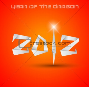 2012 Year of the Dragon backgroud.