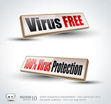 Virus Free 3D Panels with Transparent Shadows