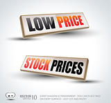 Low Price and Stock Prices 3D Panels