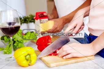 Cutting pepper