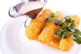 Mozzarella fried with mayonnaise