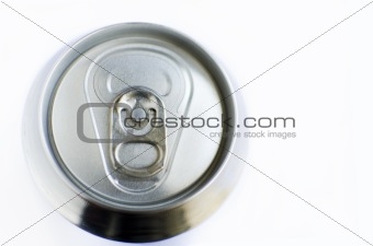 Top of a soda can and copyspace