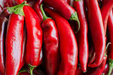 Background of red hot chili peppers