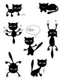 Vector Halloween black cats