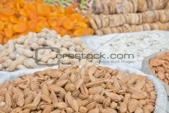 Almonds and other dried fruits and nuts