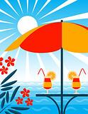 beach bar scene