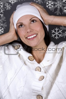 winter and woman