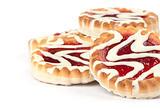 cookies with jam closeup