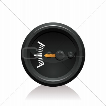 vector illustration of a gauge