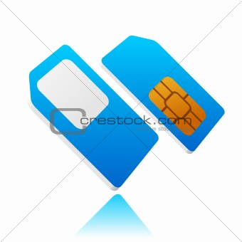 blue mobile sim card