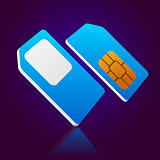 blue mobile sim card
