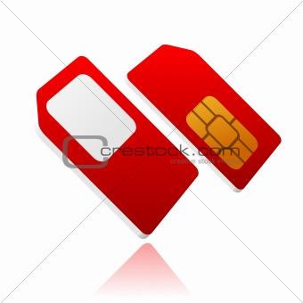 standard red sim card