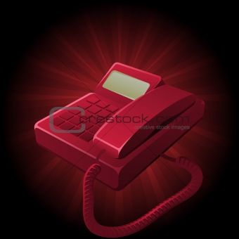 clean and simplistic vector illustration of a telephone set