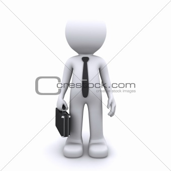 3d business man. Isolated