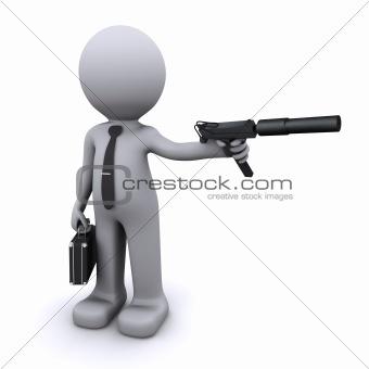 secret agent/gangster/spy concept