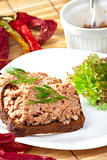 pate on bowl