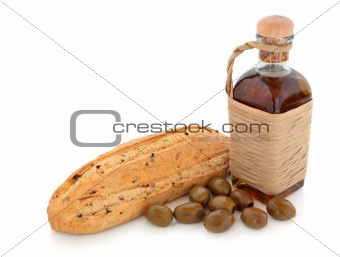 Olive Bread, Oil and Olives