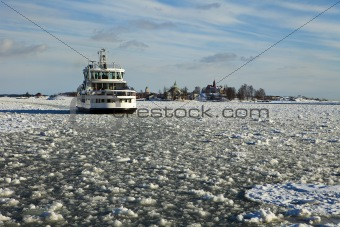 Ferry In Helsinki Winter