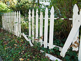 White Picket Fence Falling Apart