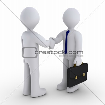 Handshake to close the deal