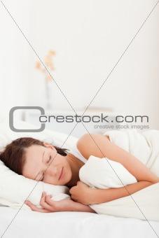 Sleeping beautiful woman