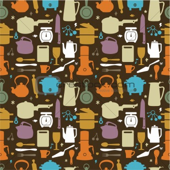 seamless kitchen pattern,vector illustration