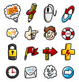 cartoon hand draw web icons collection