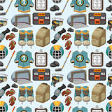 cartoon hockey sport seamless pattern