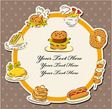fast food restaurant card