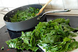 Preparing spinach