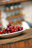 Appetizing fresh cherries